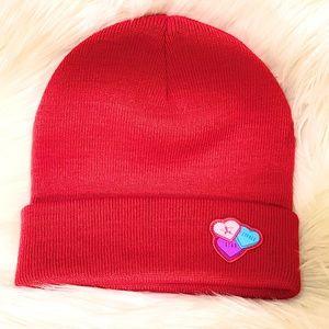 Jeffrey Star Red Valentine's Day Beanie